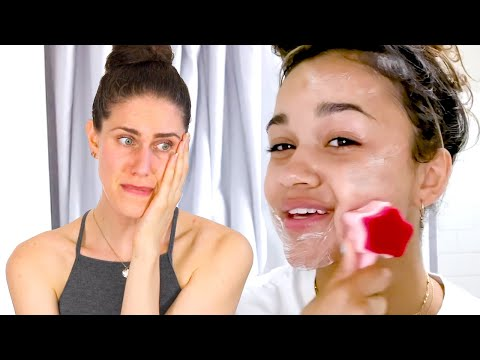 (This is BAD) Reacting To 'Outer Banks' Madison Bailey's Nighttime Skincare Routine Harper's BAZAAR