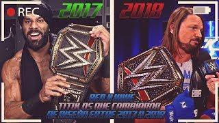 4 CAMPEONATOS DE WWE QUE CAMBIARON DE DISEÑO ENTRE 2017 Y 2018 - LOQUENDO