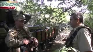 Идет бой! ополченцы на передовой Луганска 30 07 Донбасс Украина 2014