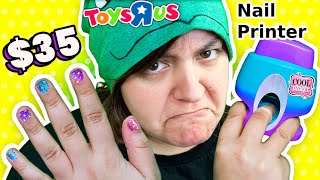 CASH or TRASH? Nail Art Printer from Toys R Us! Testing 3 Nail Art Kits Go Glam