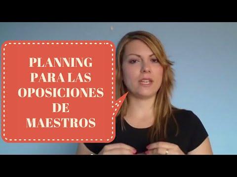Planning para preparar las Oposiciones Maestros. Education planning