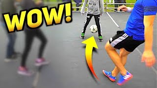 Could YOU Take The Football From These Twins? ★ (Insane Nutmeg Football Skills 2018)
