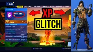 HOW TO RANK UP FAST XP GLITCH IN SEASON 8 (FORTNITE: BATTLE ROYALE GLITCHES)