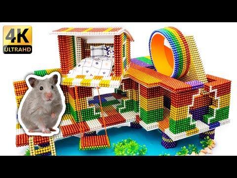 DIY - Build Amazing Hamster Riverside House With Magnetic Balls (Satisfying) - Magnet Balls