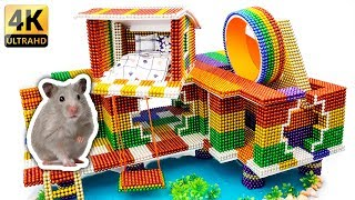DIY - Build Amazing Hamster Riverside House With Magnetic Balls (Satisfying) - Magnet Balls