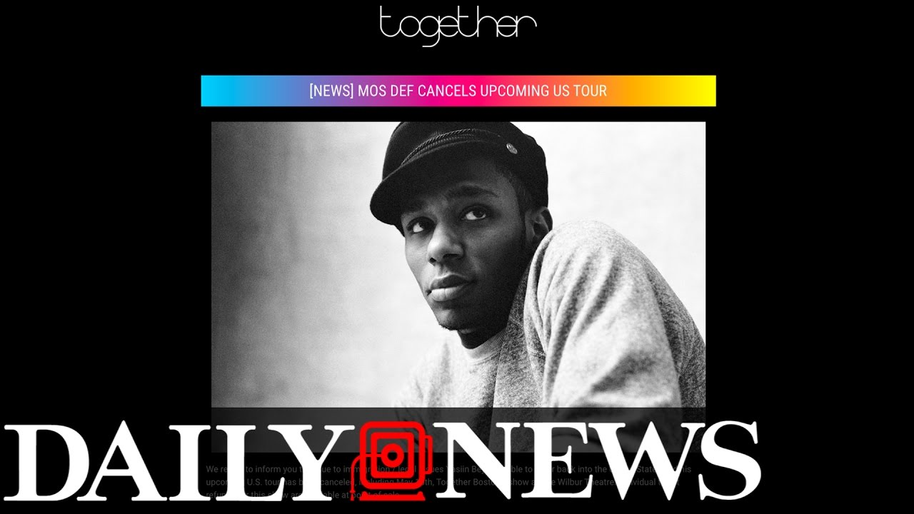 Yasiin Bey aka Mos Def, Banned From Entering USA For Tour