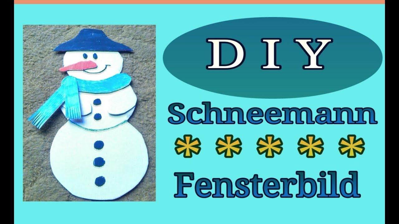 Basteln f r kinder fensterbild schneemann youtube - Weihnachtsbilder basteln ...