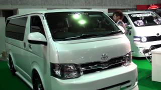 (HD)Osaka Auto Messe 2012-TOYOTA HIACE booth(大阪オートメッセ)