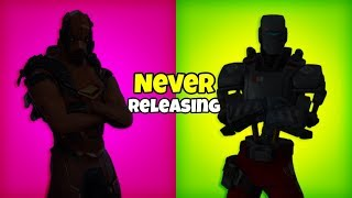 Fortnite SKINS that were NEVER Released..!
