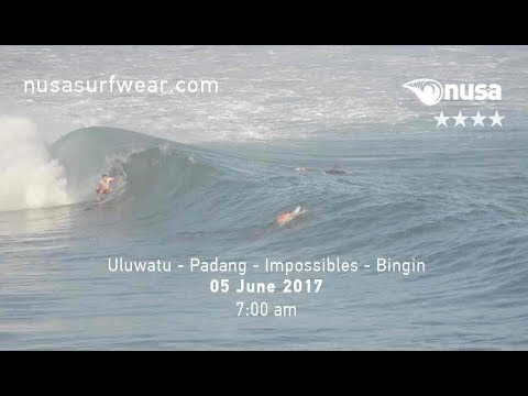 05 - 06 - 2017 / ✰✰✰✰ / NUSA's Daily Surf Video Report from the Bukit, Bali.