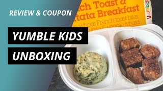 Yumble Kids Unboxing By Mealfinds (REVIEW & COUPON)