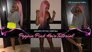 Poppin Pink Hair Tutorial! | Water Color Method | Style & Install