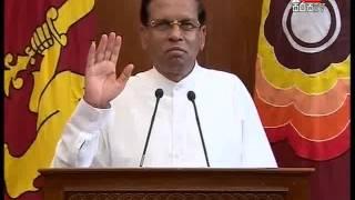 President Maithri addressing the nation