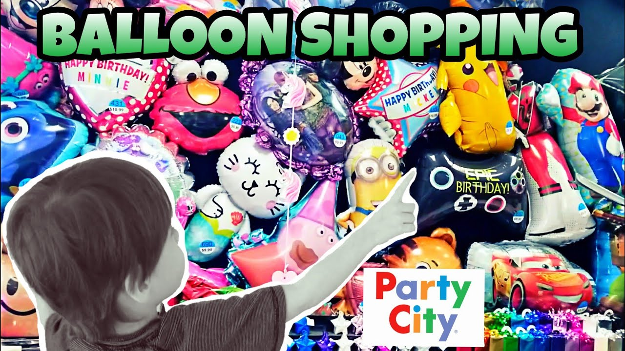 BALLOON SHOPPING AT PARTY CITY 2018