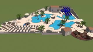 Nouvel espace piscine pour 2014 du Domaine Sainte Veziane***