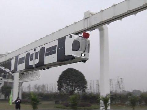 China's First Sky Train Begins Trials in Chengdu