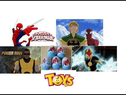 Marvel Ultimate Spiderman Surprise Eggs! Iron Fist Power Man Nova Spiderman