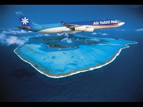 FLYING TIARE - Tahiti with a GoPro - Air Tahiti Nui
