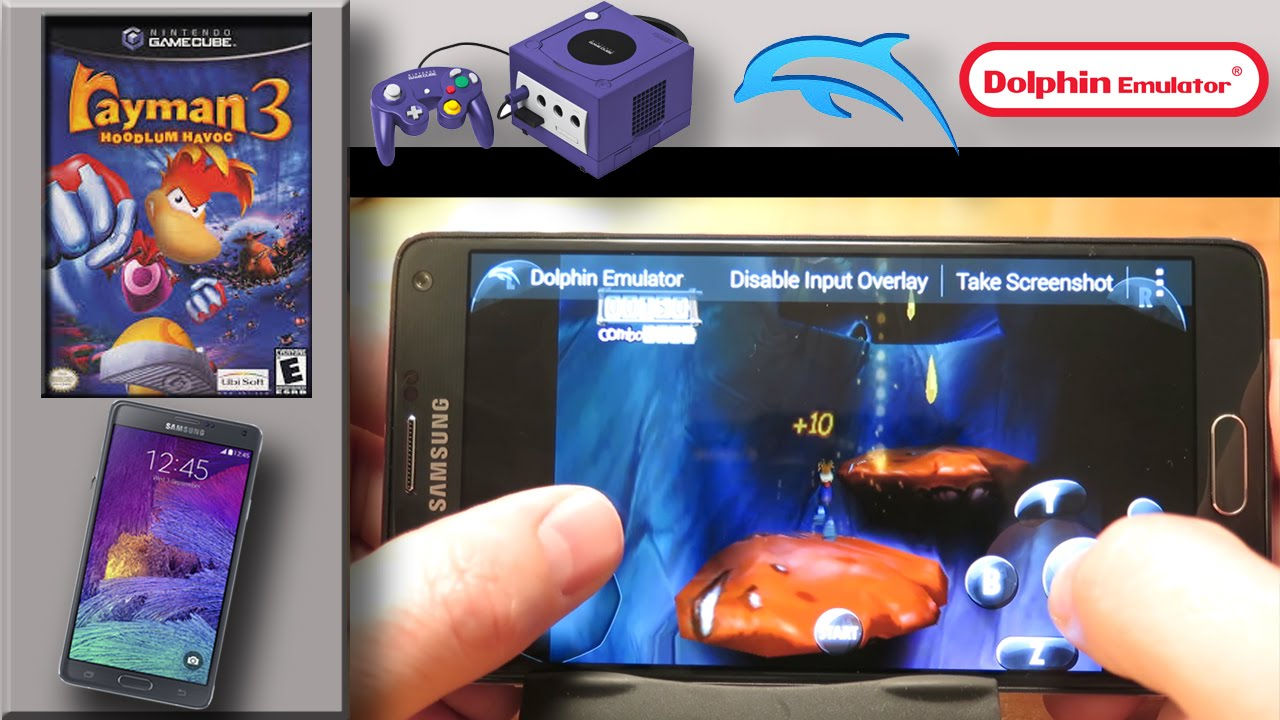 nintendo gamecube emulator on samsung galaxy note 4 dolphin emulator rayman 3