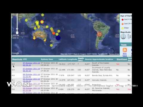 Large EarthQuake South of The Kermadecs 6.5 mag 07/10/2011