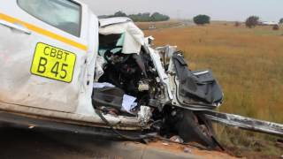 Bus and truck crash on N4, Middelburg