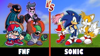 Friday Night Funkin' vs. Sonic | Minecraft (Who's Stronger?)