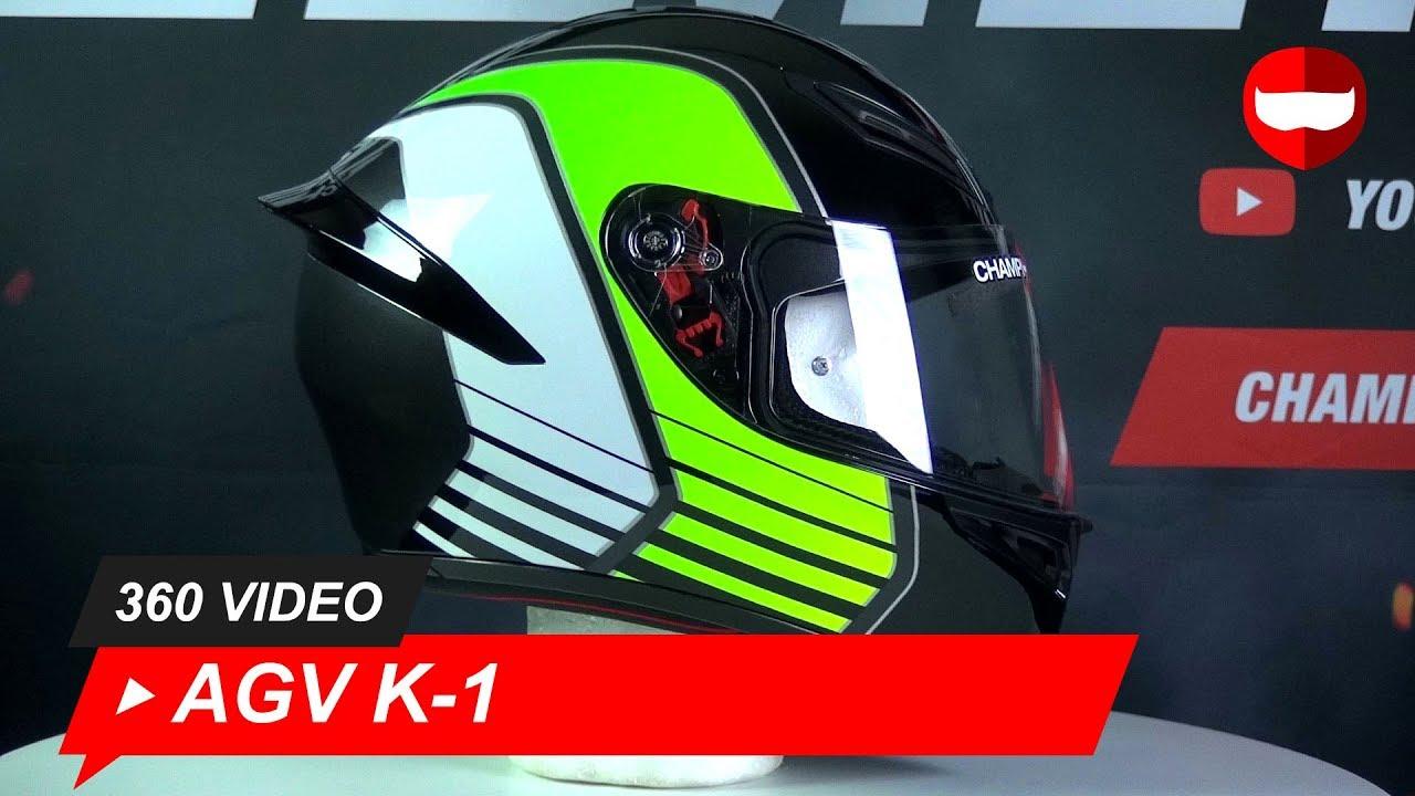 Agv K 1 Power 013 Gunmetal White Green Full Face Helmet Championhelmets Com Youtube