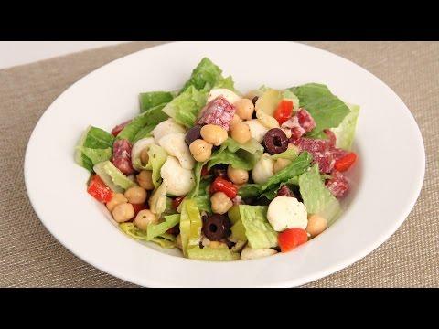 Antipasto Chopped Salad Recipe Laura Vitale Laura in the Kitchen Episode 866