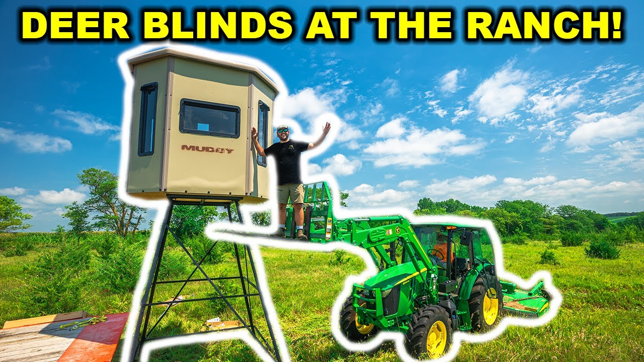 Building TOWER BLIND Deer Hunting Stands at the ABANDONED RANCH!!!