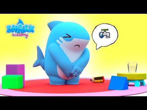 Shark Academy - The potty - Baby Shark Nursery Rhymes for Children