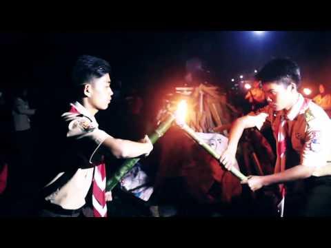 Prosesi api unggun PRAMUKA SMK Nuurul Muttaqiin Cisurupan,Garut