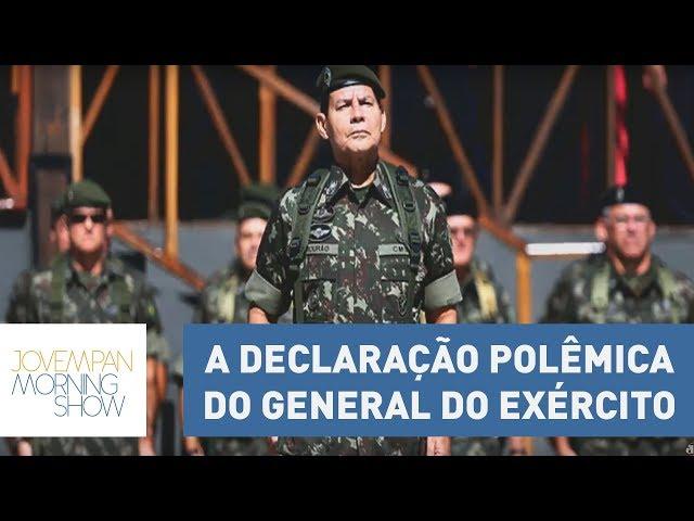 General do Exército Antônio Mourão não será punido após declaração polêmica