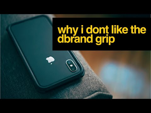 finest selection f3736 039f3 Why I DONT like the dbrand grip for iPhone X - YouTube
