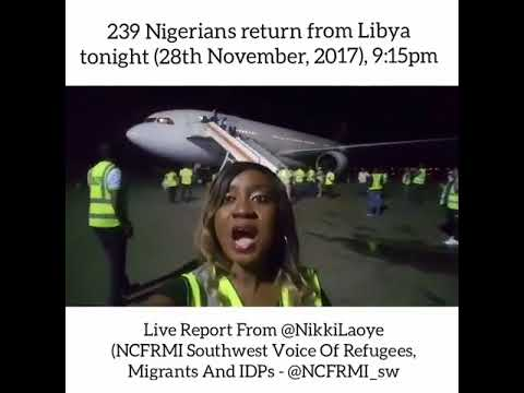 239 Nigerians Saved and Returned From Libya Slave Trade