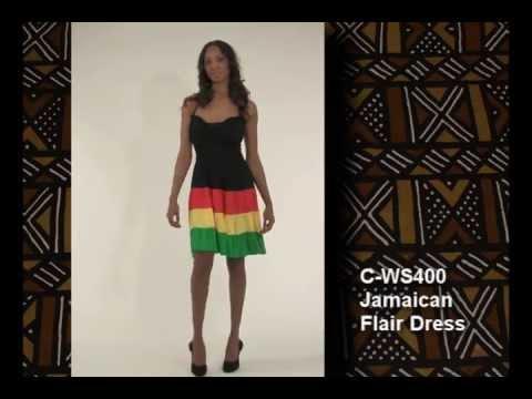 da9d57cb45 Jamaican Flair Dress - Women's Dresses-African Fashion | Africa Imports