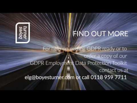 Employment law - How can HR get GDPR ready?