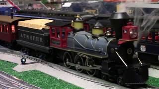 MTH Santa FE 4-6-0 Ten Wheeler Steam Engine and Overton Cars