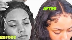 BAD QUALITY LACE ?? HOW TO INSTALL/ FRONTAL WIG INSTALL !