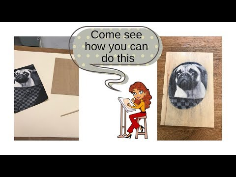 How to Transfer a Photo to Wood Video, Mod Podge /  DIY Crafts by EconoCrafts