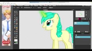 Как сделать магию пони в Фотошопе Онлайн(1)