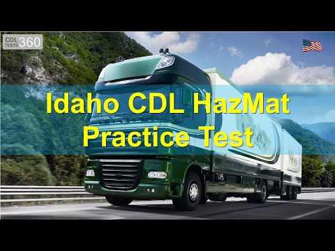Idaho CDL HazMat Practice Test