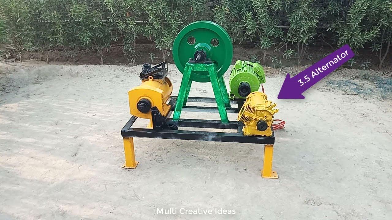 Download I make 220v electric free energy generator 10kw dynamo