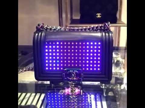 cc99042a056a Chanel led boy bag - YouTube