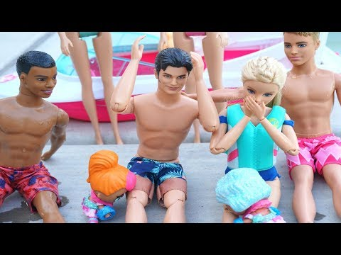 LOL DOLLS & BARBIE Go On Vacation To The Ocean! Barbie Movie