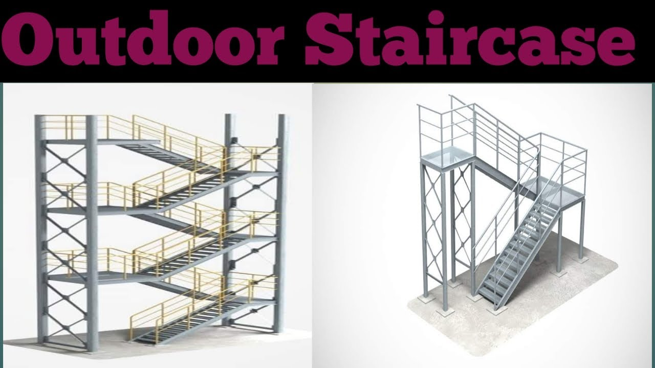 Building Large Outdoor Iron Staircase Design Modern Outdoor | Outdoor Iron Staircase Designs | Gallery | Outdoor Balcony | Exterior | Curved Staircase Carpet | Wooden Staircase