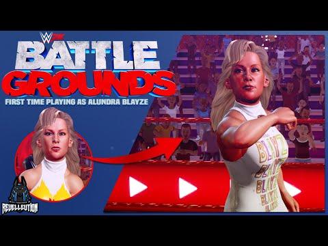 WWE 2K Battlegrounds: First Time Playing as Alundra Blayze #WWE2KBattlegrounds #AlundraBlayze #WWE  