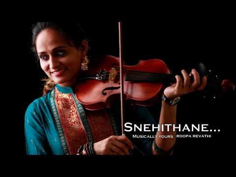 Snehithane   Alaipayuthey   Theme Music   Violin   Roopa Revathi
