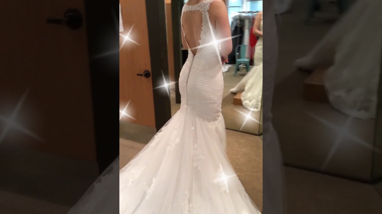 Bride tries on her fave dress at The Gilded Gown - YouTube