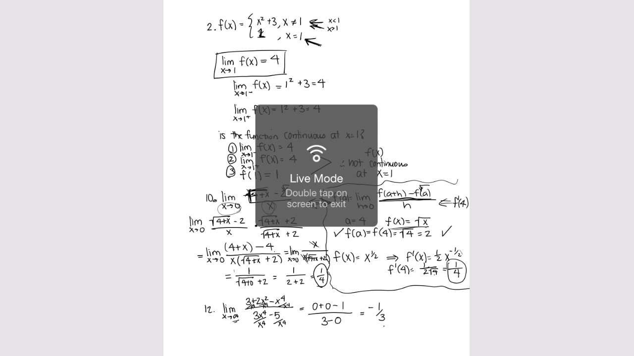 calculus review packet answer key