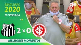 SANTOS 2 X 0 INTERNACIONAL | MELHORES MOMENTOS | 21ª RODADA BRASILEIRÃO 2020 | ge.globo